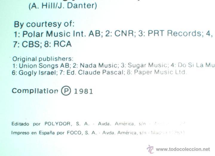 Discos de vinilo: Aniversario 25 años Festival de Eurovisión 1956-1981 ganadores 29 LP doble 1981 Polydor - Foto 4 - 235643825
