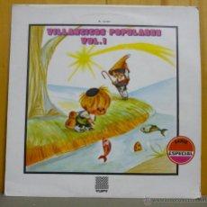 Discos de vinilo: ORFEÓN INFANTIL DE ESPAÑA - VILLANCICOS POPULARES VOL. 1 - LP YUPY 1970. Lote 44326852