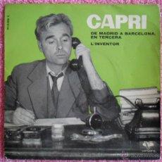 Discos de vinilo: JOAN CAPRI 1962 VERGARA 950006 DE MADRID A BARCELONA DISCO VINILO MONOLOGO DE HUMOR EN CATALÁN. Lote 44344129
