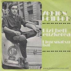 Discos de vinilo: ZORION EGILEOR - BIKI BETI EUZKEREA - SINGLE DE VINILO FOLKLORE DEL PAIS VASCO. Lote 248980375