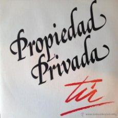 Discos de vinilo: PROPIEDAD PRIVADA - TU . SINGLE. 1988 PLATINUM'S RECORD . Lote 44345051