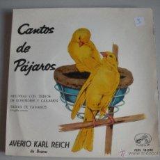 Discos de vinilo: MAGNIFICO SINGLE DE - CANTOS DE PAJAROS -. Lote 44347095