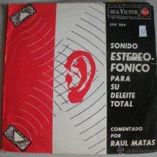 Discos de vinilo: MAGNIFICO SINGLE DE SONIDO ESTEROFONICO - PARA SU DELEITE - TOTAL -. Lote 44347099