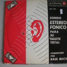 Discos de vinilo: MAGNIFICO SINGLE DE SONIDO ESTEROFONICO - PARA SU DELEITE - TOTAL -. Lote 44347103