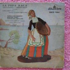 Discos de vinilo: EMILIO VENDREL CAYETANO RENOM LA PEPA MACA 1958 ALHAMBRA 7086 COBLA BARCELONA 5 DISCO VINILO. Lote 44363985