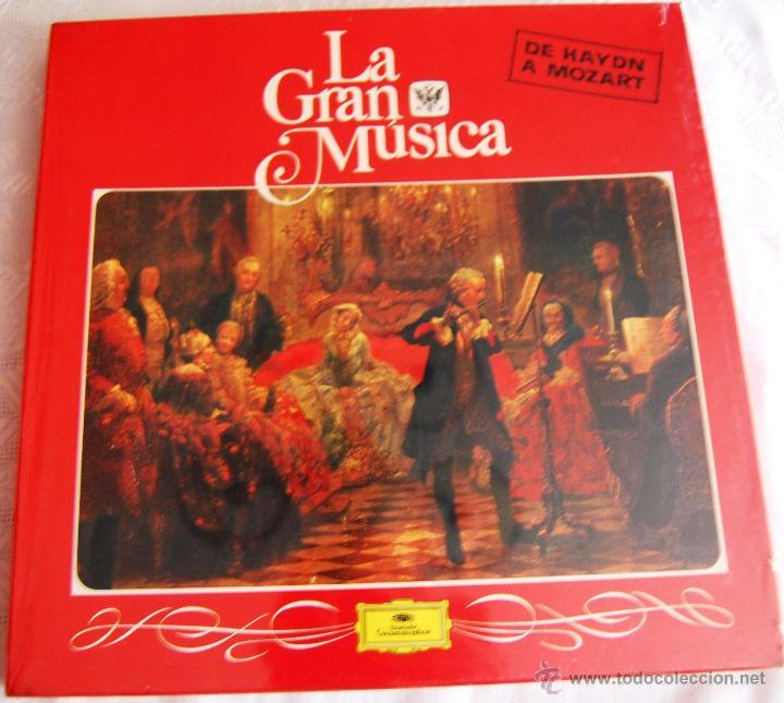 """LA GRAN MÚSICA """"DE HAYDN A MOZART"""". LA CAJA CONTIENE 4 DISCOS GRANDES (TAMAÑO 31,5 X 31,5). (Música - Discos - Singles Vinilo - Clásica, Ópera, Zarzuela y Marchas)"""