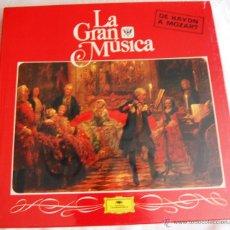 """Discos de vinilo: LA GRAN MÚSICA """"DE HAYDN A MOZART"""". LA CAJA CONTIENE 4 DISCOS GRANDES (TAMAÑO 31,5 X 31,5).. Lote 44364931"""