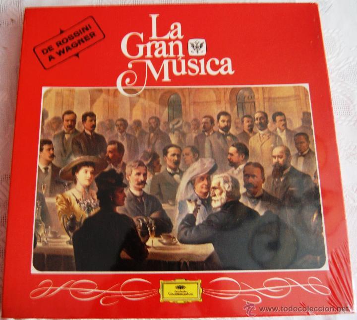 """LA GRAN MÚSICA """"DE ROSSINI A WAGNER"""". EDITA DEUTSCHE GRAMMOPHON. LA CAJA CONTIENE 4 DISCOS GRANDES (Música - Discos - Singles Vinilo - Clásica, Ópera, Zarzuela y Marchas)"""