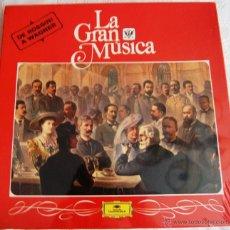 """Discos de vinilo: LA GRAN MÚSICA """"DE ROSSINI A WAGNER"""". EDITA DEUTSCHE GRAMMOPHON. LA CAJA CONTIENE 4 DISCOS GRANDES. Lote 44365019"""