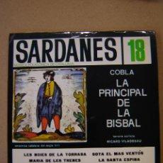 Discos de vinilo: SARDANES 18 - COBLA LA PRINCIPAL DE LA BISBAL - LES NOIES DE LA TORRASA Y 3 MÁS. Lote 44368142