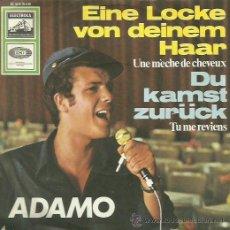 Discos de vinilo: ADAMO CANTA EN ALEMAN SINGLE SELLO EMI EDITADO EN ALEMANIA. Lote 44368739