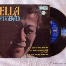 Discos de vinilo: ELLA FITZGERALD, ELLINGTON MEDLEY + 3 (EMI VERVE 1966) SINGLE ESPAÑA - NORMAN GRANZ. Lote 44375330