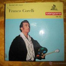 Discos de vinilo: RECITAL DEL TENOR FRANCO CORELLI. VERDI, PUCCINI. CETRA 1964. Lote 44376466