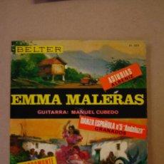 Discos de vinilo: EMMA MALERAS - ASTURIAS - DANZA ESPAÑOLA Nº 5 ANDALUZA - SACROMONTE. Lote 44377065