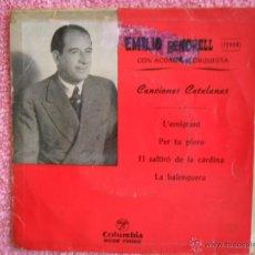 Discos de vinilo: EMILIO VENDRELL L'EMIGRANT 1959 COLUMBIA 70002 L'EMIGRANT CANCIONES CATALANAS DISCO VINILO. Lote 44384674