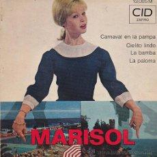 Discos de vinilo: EP MARISOL CARNAVAL EN LA PAMPA . Lote 44388868