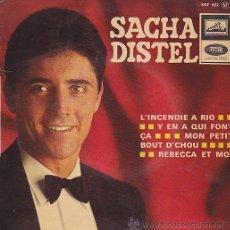 Discos de vinilo: EP SACHA DISTEL L'INCENDIE A RIO. Lote 44388878