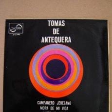 Discos de vinilo: TOMÁS DE ANTEQUERA - CAMPANERO JEREZANO Y 3 MÁS. Lote 44393406
