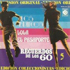 Discos de vinilo: LOS BRINCOS SINGLE SELLO NOVOLA AÑO 1976. Lote 44394221