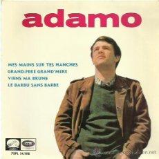 Discos de vinilo: ADAMO EP SELLO LA VOZ DE SU AMO AÑO 1965. Lote 44394549