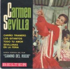 Discos de vinilo: CARMEN SEVILLA,CARIÑO TRIANERO DEL 66. Lote 44396565