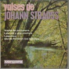 Discos de vinilo: JOHANN STRAUSS - VALSES - EP VERGARA 1964. Lote 44399586