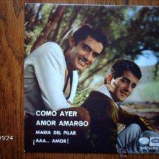Discos de vinilo: DUO DINAMICO - COMO AYER + 3. Lote 44407813