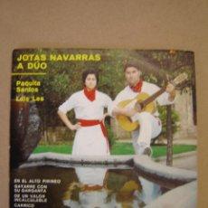 Discos de vinilo: PAQUITA SANTOS Y LUIS LES (JOTAS NAVARRAS A DÚO) - EN EL ALTO PIRINEO Y 5 MÁS. Lote 44418274