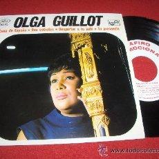 Discos de vinilo: OLGA GUILLOT LUNA DE ESPAÑA + DOS ESTROFAS + DESPERTAR A TU LADO + TU PRESENCIA EP 1969 ZAFIRO PROMO. Lote 44418672