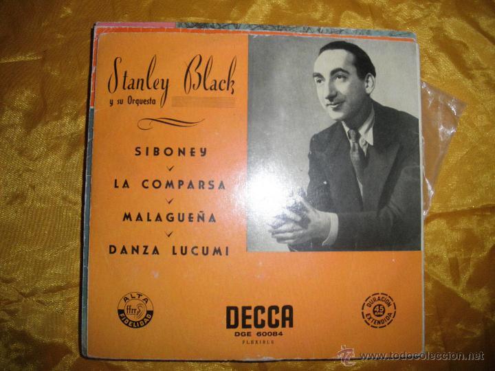 STANLEY BLACK Y SU ORQUESTA. MUSICA DE ERNESTO LECUONA. SIBONEY + 3. EP. DECCA (Música - Discos de Vinilo - EPs - Orquestas)