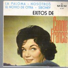 Discos de vinil: DISCO EXITO DE CONNIE FRANCIS - LA PALOMA - NOSOTROS - DE M.G.M. 63507 - 1964. Lote 44419149