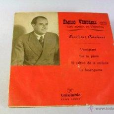 Discos de vinilo: EMILIO VENDRELL. CANCIONES CATALANAS. COLUMBIA. Lote 44419205