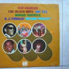 Discos de vinilo: RAY CHARLES - THE BEACH BOYS - JOE TEX - DIONNE WARWICK - B.J. THOMAS - WILSON PICKETT. Lote 44423063