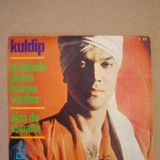Discos de vinilo: KULDIP - LA BALADA DE LOS BOINAS VERDES - OJOS DE ESPAÑA. Lote 44428276