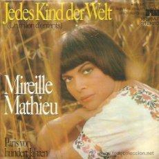 Discos de vinilo: MIREILLE MATHIEU SINGLE SELLO ARIOLA EDITADO EN FRANCIA. Lote 44430068