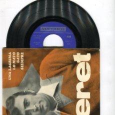 Discos de vinilo: PERET UNA LAGRIMA- LO MATO...VERGARA AÑO 1967. Lote 44432875