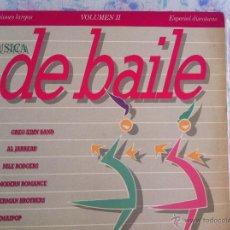 Discos de vinilo: LP MUSICA DE BAILE-VOLUMEN II-ESPECIAL DISCOTECAS-PROMO. Lote 44434930