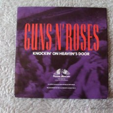 Discos de vinilo: GUNS N' ROSES, KNOCKIN' ON HEAVEN'S DOOR - STUDIO & LIVE (MCA 1992) SINGLE. Lote 44435643