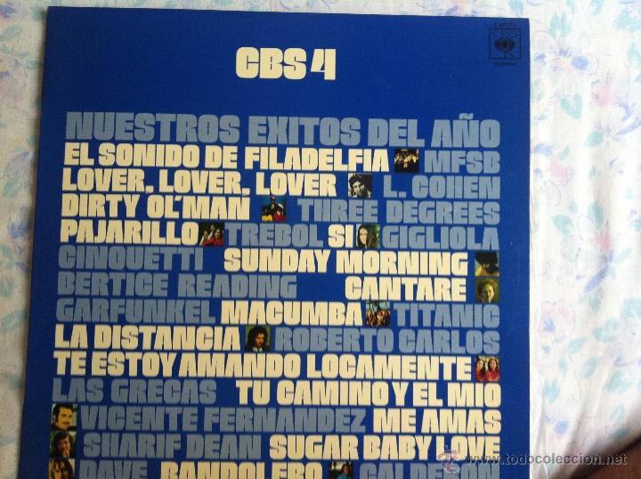 LP CBS 4-NUESTROS EXITOS DEL AÑO-VARIOS (Música - Discos - LP Vinilo - Solistas Españoles de los 70 a la actualidad)