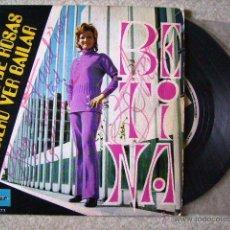 Discos de vinilo: BETINA.JARDIN DE ROSAS + 1....CHICA YE-YE...DEDICADO Y FIRMADO. Lote 44440233