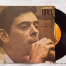 Discos de vinilo: JACQUES BREL, AMSTERDAM + 3 (SONOPLAY, 1968) SINGLE EP ESPAÑA - JEF LES BONBONS LE PLAT PAYS. Lote 44441870