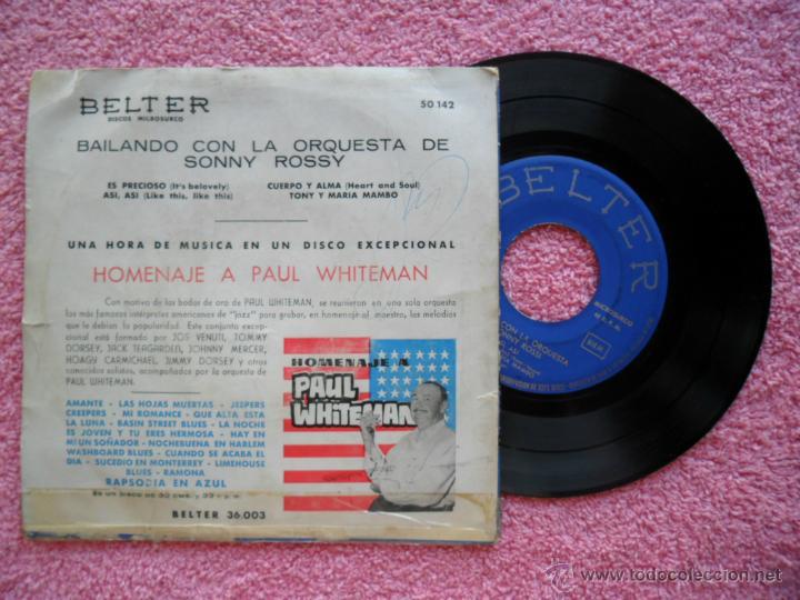 Discos de vinilo: bailando con la orquesta de sonny rossy es precioso belter 50142 disco vinilo - Foto 2 - 44443959