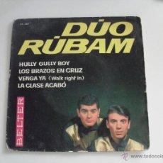 Discos de vinilo: DUO RUBAM - HULLY GULLY BOY + 3 EP 1963. Lote 44456288