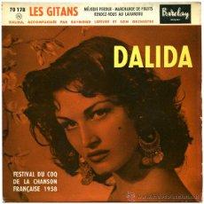 Dischi in vinile: DALIDA - LES GITANS - EP FRANCE 1958 - BARCLAY 70 178. Lote 44456719