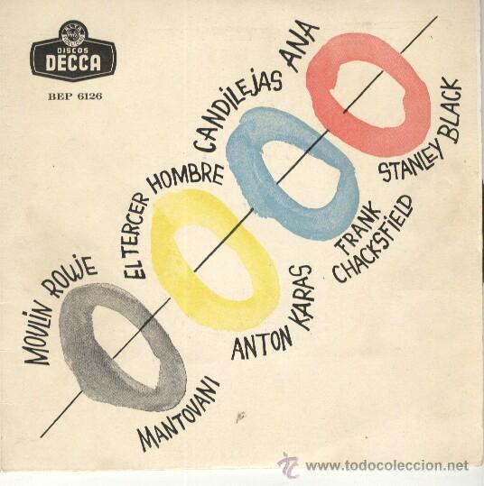 MANTOVANI / ANTON KARAS / CHACKSFIELD / STANLEY BLACK EP DECCA FIN DE LOS 50 (Música - Discos de Vinilo - EPs - Orquestas)