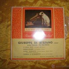 Discos de vinilo: GIUSEPPE DI STEFANO (TENOR). O SOLE MIO + 3. EP. LA VOZ DE SU AMO. Lote 44457063