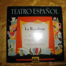 Discos de vinilo: TEATRO ESPAÑOL. LA REVOLTOSA . ORQUESTA SINFONICA ESPAÑOLA. REGAL. Lote 44457429
