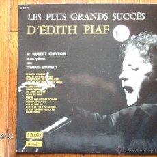 Discos de vinilo: M. HUBERT CLAVECIN ET SES RYTHMES AVEC STEPHANE GRAPPELLY - LES PLUS GRANDS SUCCES D´EDITH PIAF. Lote 44466631