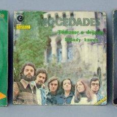 Discos de vinilo: LUIS AGUILÉ CUANDO SALÍ DE CUBA MOCEDADES TÓMAME DÉJAME JORGE SEPÚLVEDA MIRANDO AL MAR 45 RPM VINILO. Lote 44468850