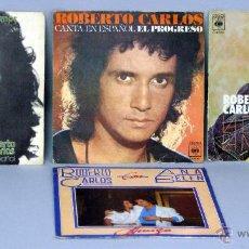 Dischi in vinile: ROBERTO CARLOS LA DISTANCIA LA MONTAÑA EL PROGRESO AMIGA CON ANA BELÉN 4 45 RPM VINILO. Lote 44469677